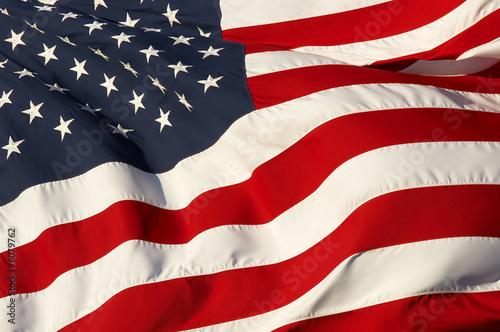 Fotografie, Obraz  Zblízka obrázek americkou vlajku