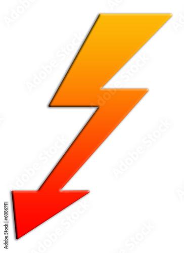 Obraz Blitz, Pfeil - fototapety do salonu