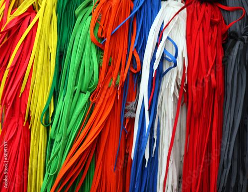 Fotobehang Paradijsvogel color shoelaces