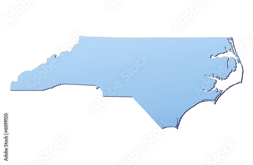 North Carolina (USA) map filled with light blue gradient - Buy this ...