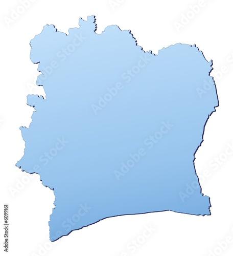 Cote D\'Ivoire map filled with light blue gradient – kaufen Sie diese ...
