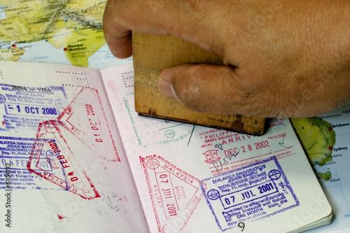 Immigration Stamp on Passport