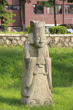 Statue Of Confucian Officer Of Middle Ages In Asia