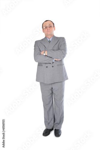 Fotografie, Obraz  Man in grey suit stands