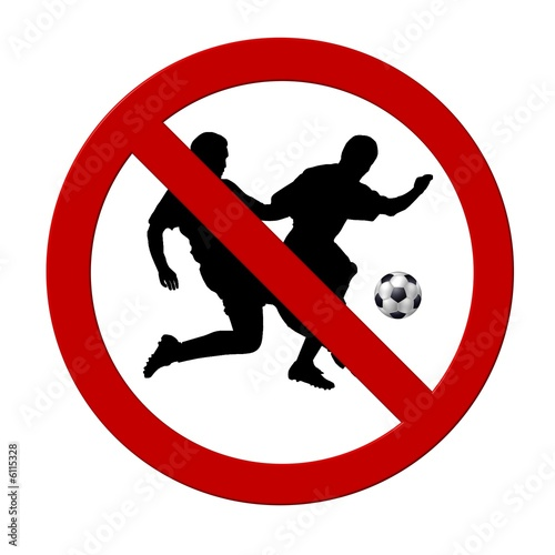Fussball Spielen Verboten Buy This Stock Illustration And