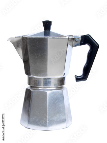 Fotografie, Obraz  Italian coffee maker isolated on white background