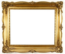 Old Antique Gold Frame Over Wh...
