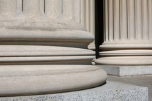 Ionic Columns At The National Archive, Washington DC,