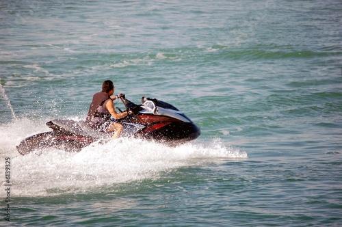 Poster Water Motor sports Jetski Rider