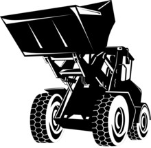 Front Loader Black And White
