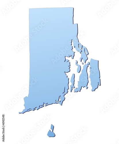 Rhode Island(USA) map filled with light blue gradient ...