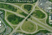 Highway Clover Leaf Interchange.