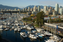 Boats In A Marina False Creek ...