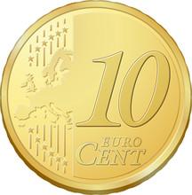 Pièce De Dix Cents D'euro, Im...