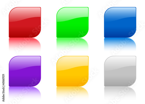 Poster  color icon with reflection