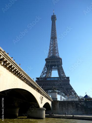 Fototapeta la seine et la tour eiffel obraz na płótnie