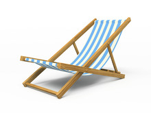 Chaise Longue Isolated On Whit...