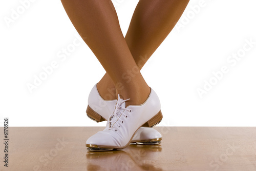 297ee8b5 Tap-top/Clog dance steps; on white. - Buy this stock photo and ...