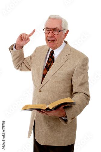 Fotografie, Obraz  Senior Preacher