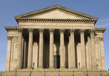 The Side Of St Georges Hall In Liverpool