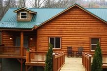 New Log Home Large Deck