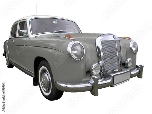 Photo Mercedes Benz 220S 1956 isolated with clipping path