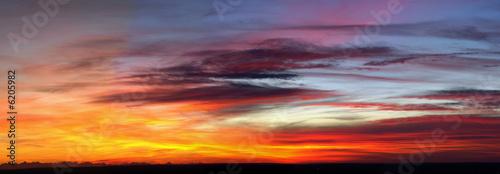 Canvas Print abendhimmel panorama 2