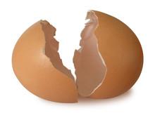 Broken Egg Shell Isolated On W...