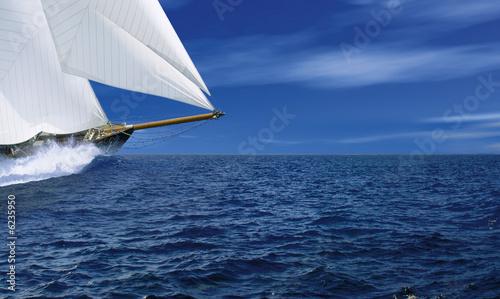 Tuinposter Zeilen Segelschiff 1
