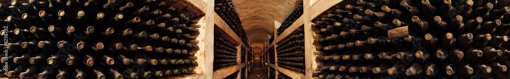 Old wine collection in the cellar Purcari in the Moldova