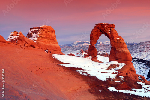 Delicate Arch at Arches National Park in Utah Fototapet