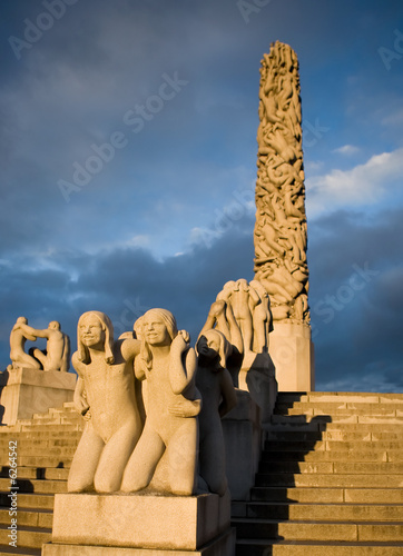 The vigeland sculpture park in Oslo, Norway Poster