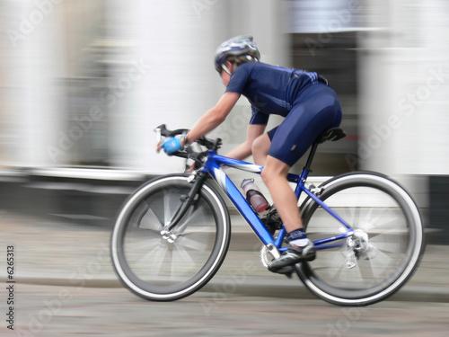 Fotobehang Fietsen A junior racing cycler in competition