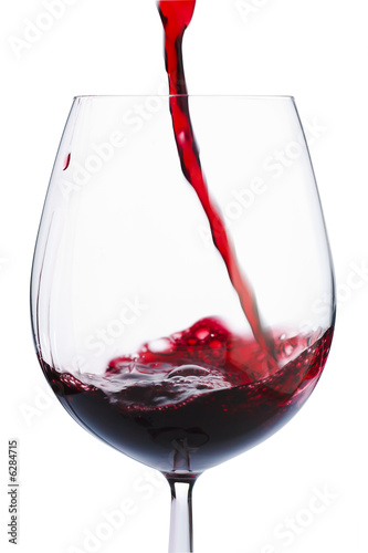 Papiers peints Vin Badly poured red wine in the glass