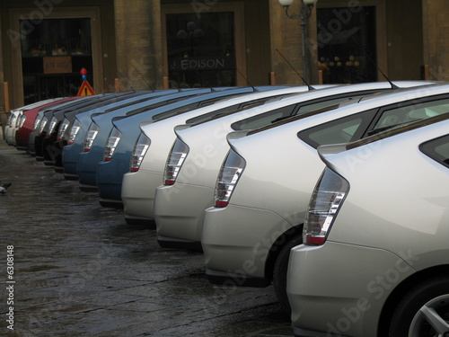 Leinwand Poster cars in a row