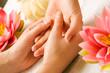Leinwanddruck Bild Handmassage
