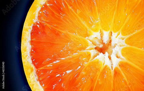Aluminium Prints Slices of fruit Orange2