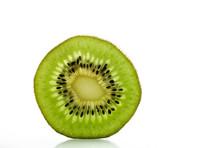 Thin Sliced Kiwi Fruit With Backlight