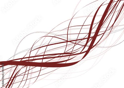 vecteur série - courbe vectorielle nature Billede på lærred