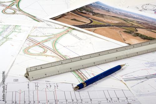 Obraz Plan aménagement du territoire - échangeur autoroute - fototapety do salonu