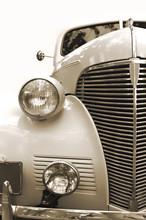 Vintage Car. Sepia.