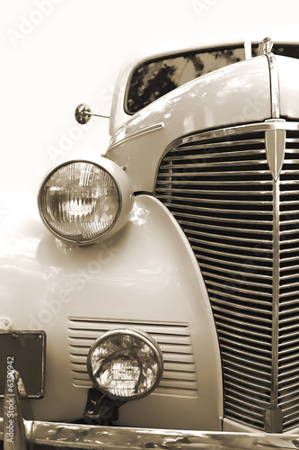 Keuken foto achterwand Vintage cars Vintage car. Sepia.