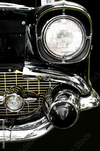 Vintage car. Close-up.