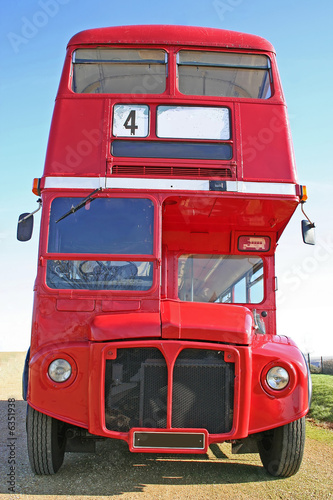 Photo  Red double decker London Bus