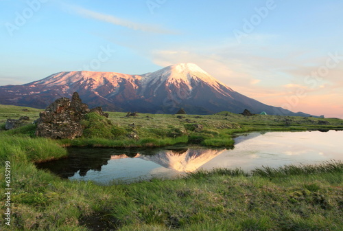 Volcano on Kamchatka