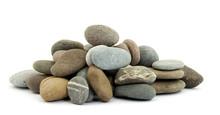 Zen Stones On Pile Studio Isol...