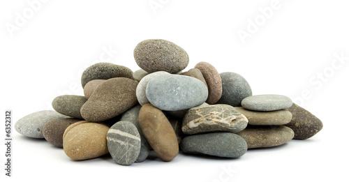 zen stones on pile studio isolated Canvas Print