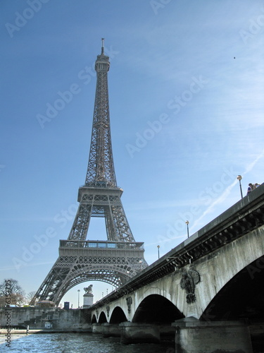 Fototapeta Pont et Tour Eiffel obraz na płótnie