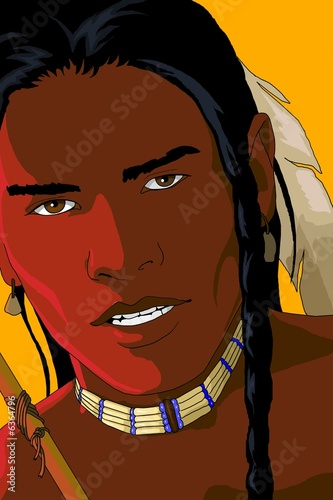 Poster Indiens ahote_red