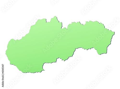 Slovakia map filled with light green gradient – kaufen Sie diese ...